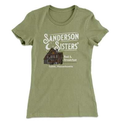 Sanderson Sisters' Bed & Breakfast Women's T-Shirt-T-Shirt-Printify-Solid Light Olive-S-Famous IRL
