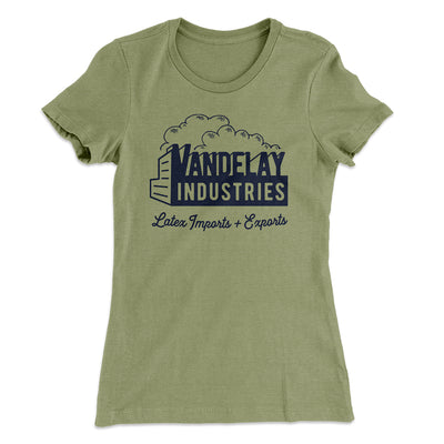 Vandelay Industries Women's T-Shirt-Solid Light Olive - Famous IRL