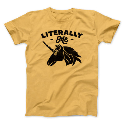 Literally Me Unicorn Men/Unisex T-Shirt-Maize Yellow - Famous IRL