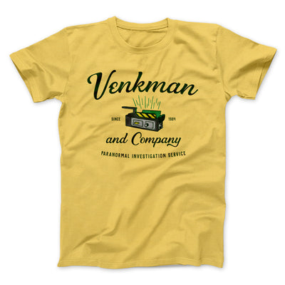 Venkman and Company Men/Unisex T-Shirt-Maize Yellow - Famous IRL