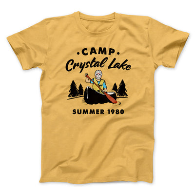 Camp Crystal Lake Men/Unisex T-Shirt-Maize Yellow - Famous IRL