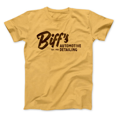 Biff's Auto Detailing Men/Unisex T-Shirt-Maize Yellow - Famous IRL