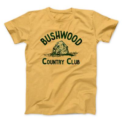 Bushwood Country Club Men/Unisex T-Shirt-Maize Yellow - Famous IRL