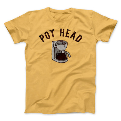 Pot Head Men/Unisex T-Shirt-Maize Yellow - Famous IRL