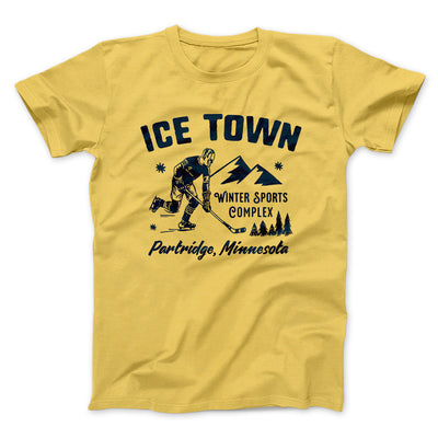 Ice Town Sports Complex Men/Unisex T-Shirt-Maize Yellow - Famous IRL