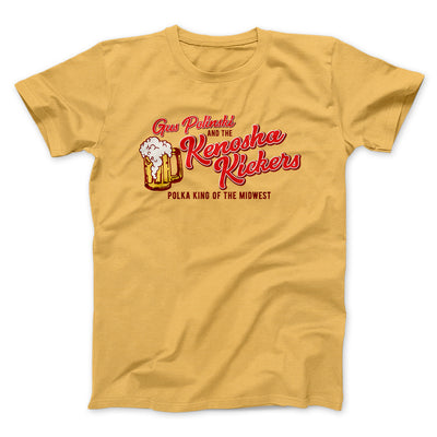 Kenosha Kickers Men/Unisex T-Shirt-Maize Yellow - Famous IRL