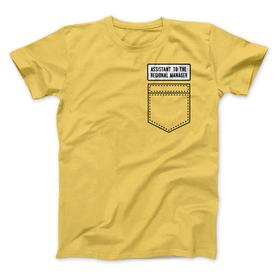 Assistant to the Regional Manager Men/Unisex T-Shirt-T-Shirt-Printify-Maize Yellow-S-Famous IRL