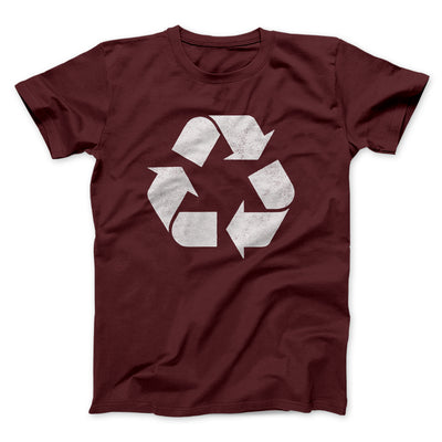 Recycle Symbol Men/Unisex T-Shirt-Maroon - Famous IRL