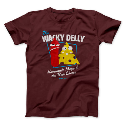 The Wacky Delly Men/Unisex T-Shirt-Maroon - Famous IRL