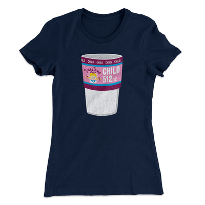 Sweetum's Child Size Soda Women's T-Shirt-Solid Midnight Navy - Famous IRL
