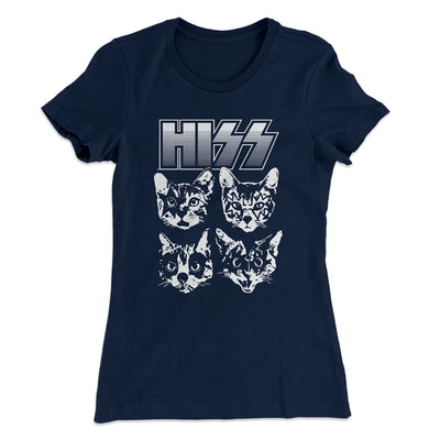 Hiss Women's T-Shirt-Solid Midnight Navy - Famous IRL