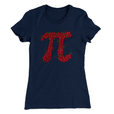 Cherry Pi Women's T-Shirt-Solid Midnight Navy - Famous IRL