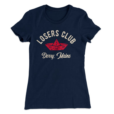 Losers Club Women's T-Shirt-Solid Midnight Navy - Famous IRL