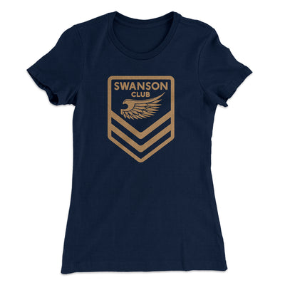 Swanson Club Women's T-Shirt-Solid Midnight Navy - Famous IRL