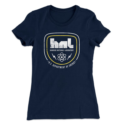 Hawkins National Laboratory Women's T-Shirt-Solid Midnight Navy - Famous IRL