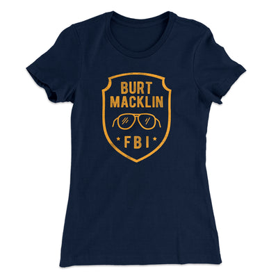 Burt Macklin FBI Women's T-Shirt-Solid Midnight Navy - Famous IRL