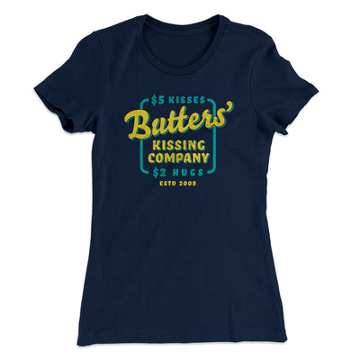 Butter's Kissing Company Women's T-Shirt-Women's T-Shirt-White Label DTG-Midnight Navy-S-Famous IRL