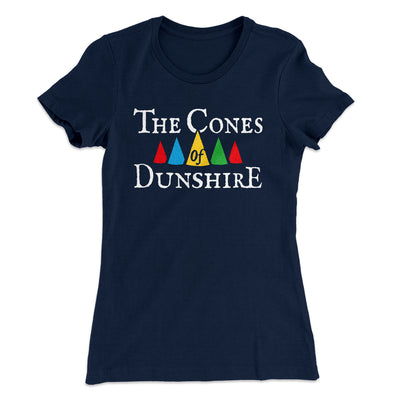 The Cones of Dunshire Women's T-Shirt-Solid Midnight Navy - Famous IRL
