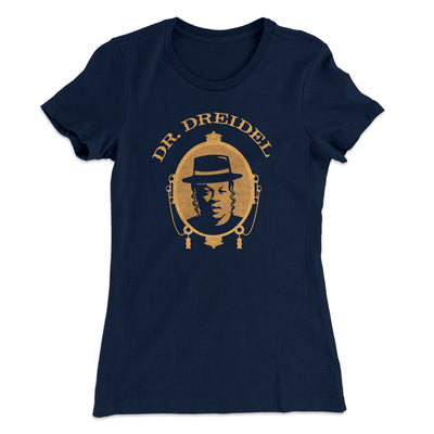 Dr. Dreidel Women's T-Shirt-Women's T-Shirt-White Label DTG-Midnight Navy-S-Famous IRL