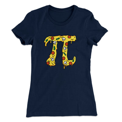 Pizza Pi Women's T-Shirt-Solid Midnight Navy - Famous IRL