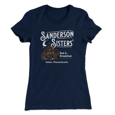 Sanderson Sisters' Bed & Breakfast Women's T-Shirt-T-Shirt-Printify-Solid Midnight Navy-S-Famous IRL