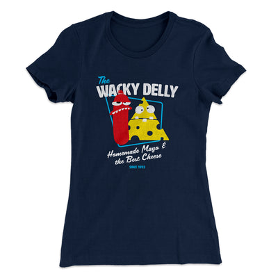 The Wacky Delly Women's T-Shirt-Solid Midnight Navy - Famous IRL