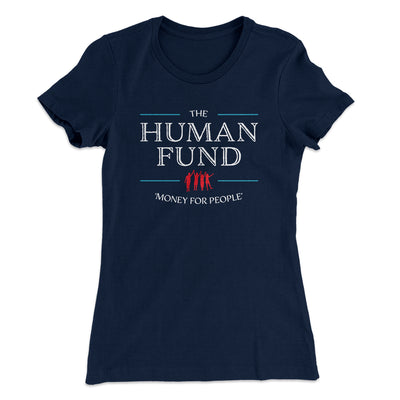 The Human Fund Women's T-Shirt-Solid Midnight Navy - Famous IRL