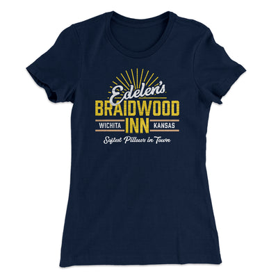 Edelen's Braidwood Inn Women's T-Shirt-Solid Midnight Navy - Famous IRL