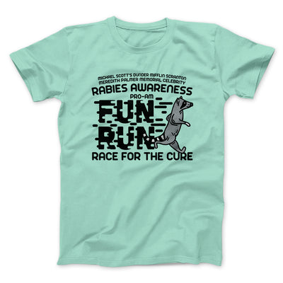 Rabies Awareness Fun Run Men/Unisex T-Shirt-Mint - Famous IRL