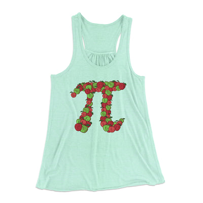 Apple Pi Women's Flowey Racerback Tank Top-Mint - Famous IRL