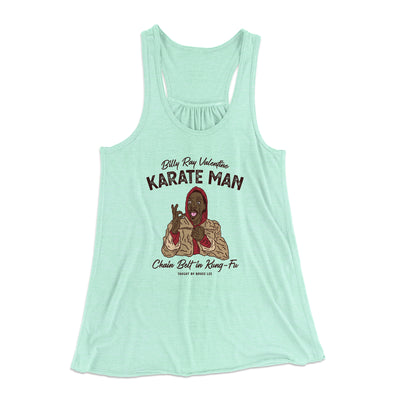 Billy Ray Valentine Karate Man Women's Flowey Racerback Tank Top - Famous IRL Funny and Ironic T-Shirts and Apparel