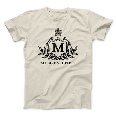 Madison Hotels Men/Unisex T-Shirt-T-Shirt-Printify-Natural-S-Famous IRL