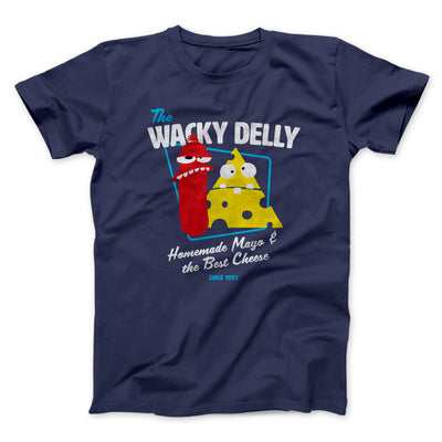 The Wacky Delly Men/Unisex T-Shirt-Navy - Famous IRL