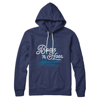 Boats 'N Hoes Hoodie-Navy - Famous IRL