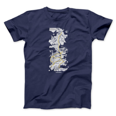 Map of Westeros Men/Unisex T-Shirt-Navy - Famous IRL
