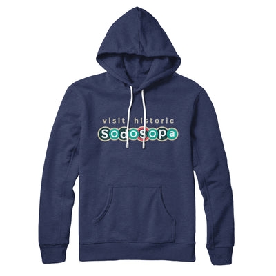 Visit Historic SodoSopa Hoodie-Navy - Famous IRL
