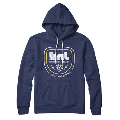 Hawkins National Laboratory Hoodie-Navy - Famous IRL