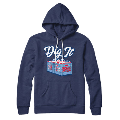 Dig It - Record Crate Hoodie-Navy - Famous IRL