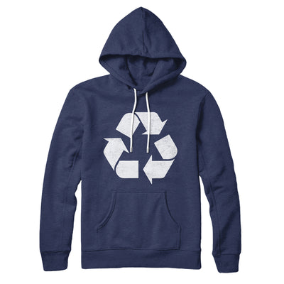 Recycle Symbol Hoodie-Navy - Famous IRL