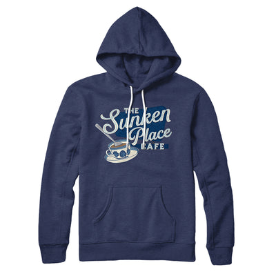 The Sunken Place Cafe Hoodie-Hoodie-Printify-Navy-S-Famous IRL
