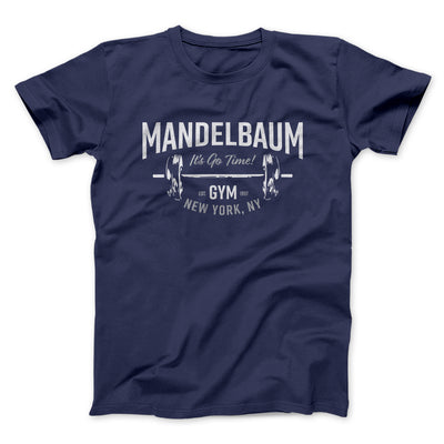 Mandelbaum Gym Men/Unisex T-Shirt-Navy - Famous IRL