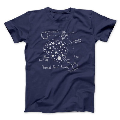Kessel Run Directions Men/Unisex T-Shirt-Navy - Famous IRL