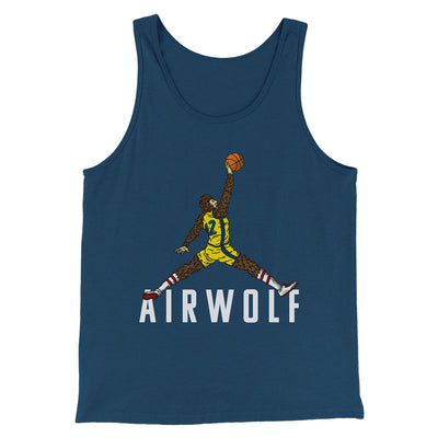 Air Wolf Men/Unisex Tank-Heather Navy - Famous IRL