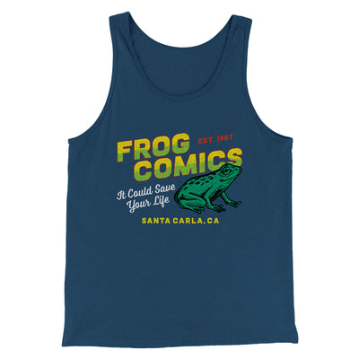 Frog Comics Men/Unisex Tank-Tank Top-Printify-Heather Navy-S-Famous IRL