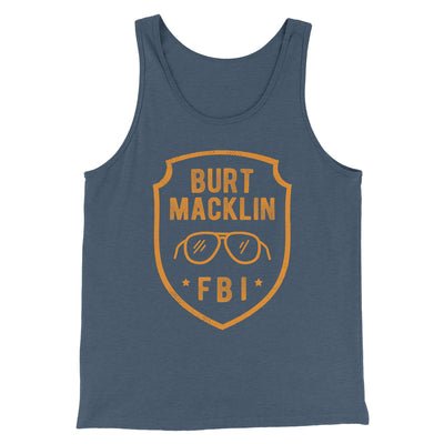 Burt Macklin FBI Men/Unisex Tank-Heather Navy - Famous IRL
