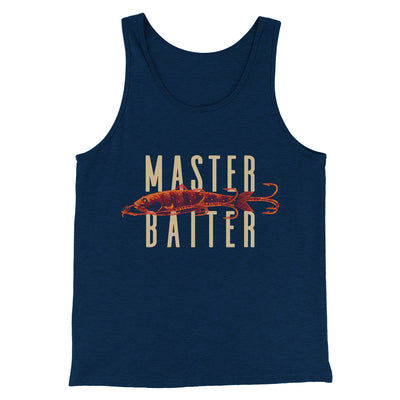 Master Baiter Men/Unisex Tank-Heather Navy - Famous IRL