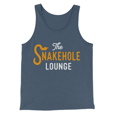 Snakehole Lounge Men/Unisex Tank-Heather Navy - Famous IRL