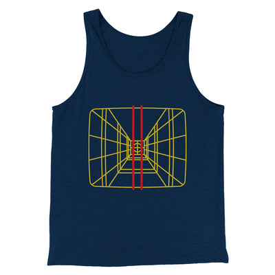 Stay On Target Men/Unisex Tank-Heather Navy - Famous IRL