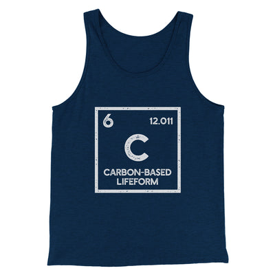 Carbon Based Lifeform Men/Unisex Tank-Heather Navy - Famous IRL