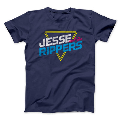 Jesse and the Rippers Men/Unisex T-Shirt-Navy - Famous IRL